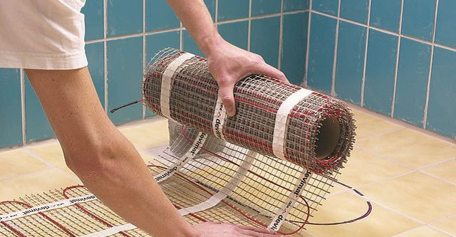 Удобнее всего использовать сетчатые нагревательные маты