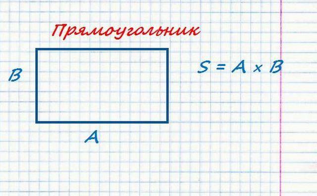 Проще не придумаешь - площадь прямоугольника