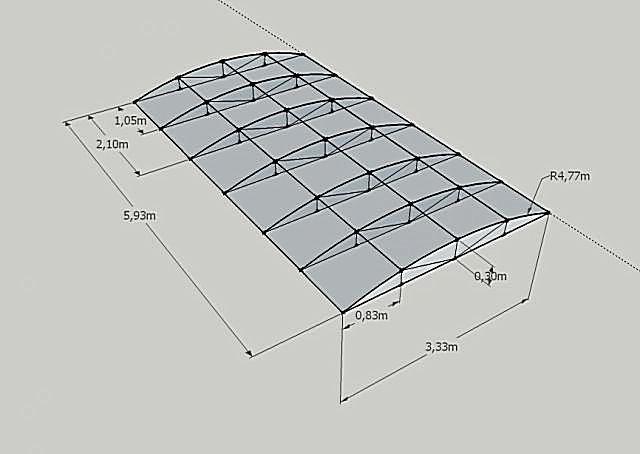 Рассчитать навес из поликарбоната своими руками 7