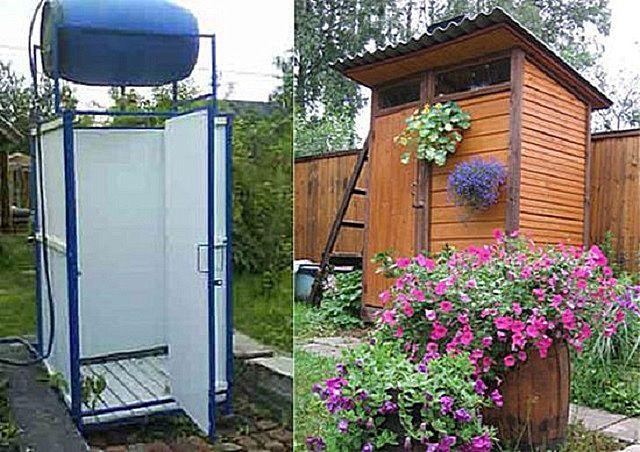 Дачные душ и туалет