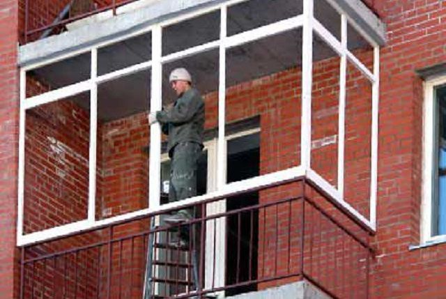 Ремонт балкона технология