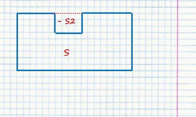 Обратный пример - площадь комнаты уменьшена за счет выступа