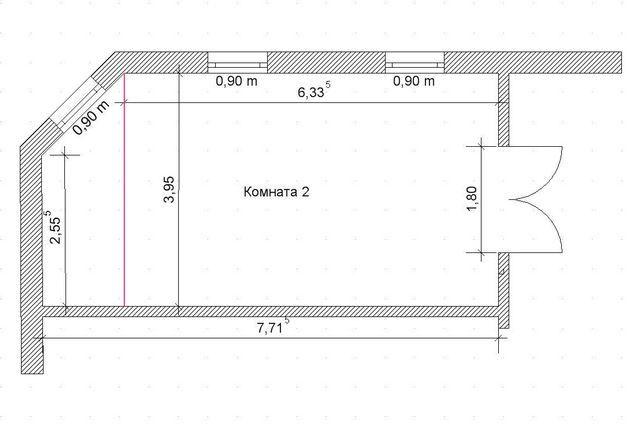 Пример расчетов в пятиугольной комнате