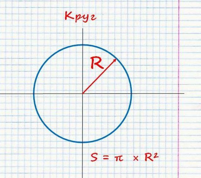 Площадь круга - нужен только радиус