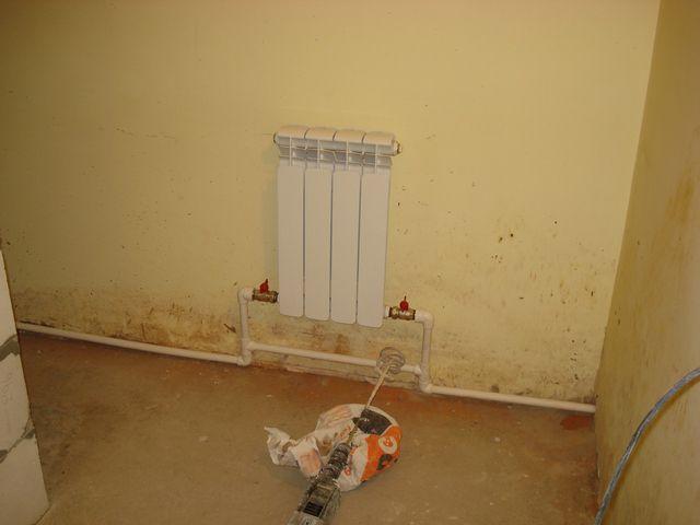Подключение радиатора с байпасом