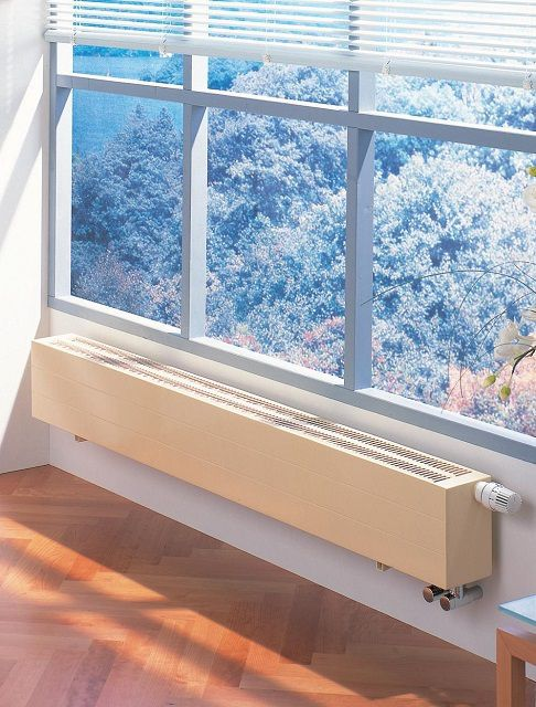 Конвектор способен создать тепловую завесу около окон или дверей
