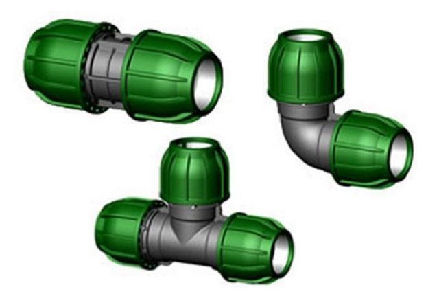 Фитинги для соединения шлангов или пластиковых труб