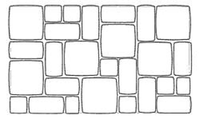 Один из вариантов схемы укладки тротуарной плитки