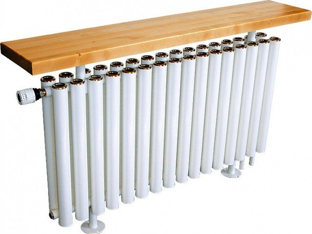 Трубчатые радиаторы часто имеют весьма оригинальное дизайнерское исполнение