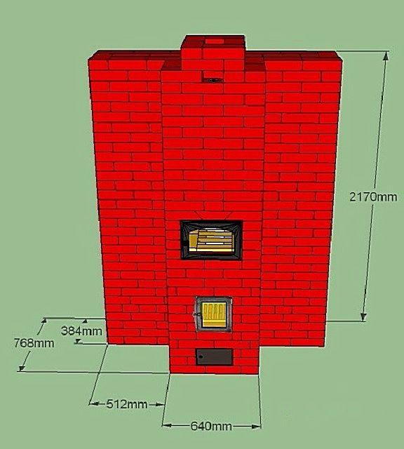 Схема Т-образной отопительной печки