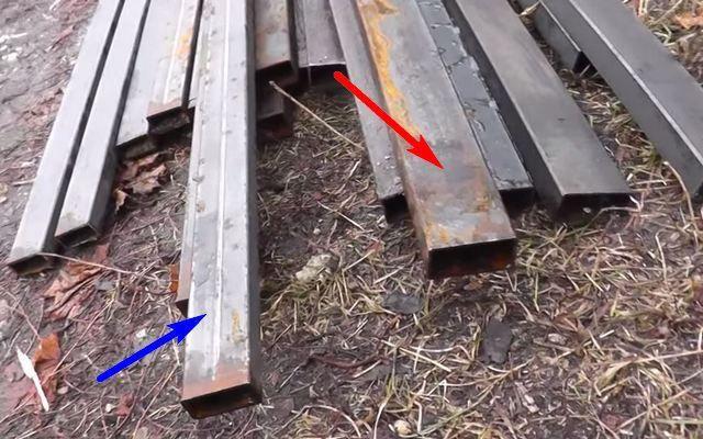 Два типа профильной трубы: 50 × 25 и 40 × 20 мм