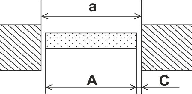 Замер для прямого проема - значительно проще