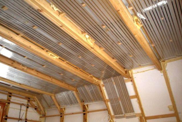 Потолок готов к облицовке