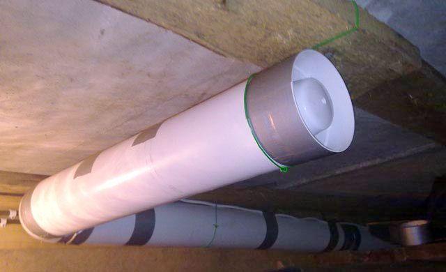 Системе вентиляции гаража можно помочь канальным вентилятором