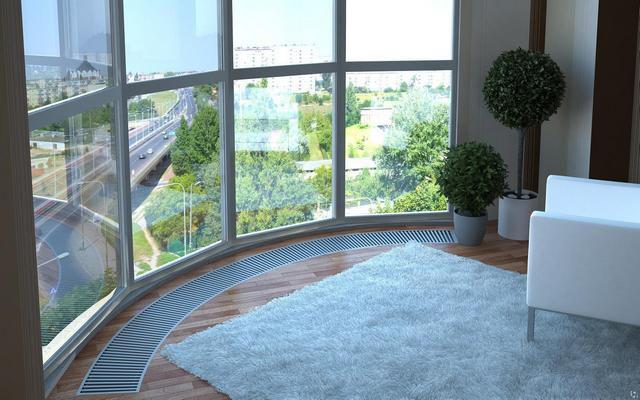 Эксклюзивные варианты конвекторов могут размещаться даже в комнатах сложной конфигурации