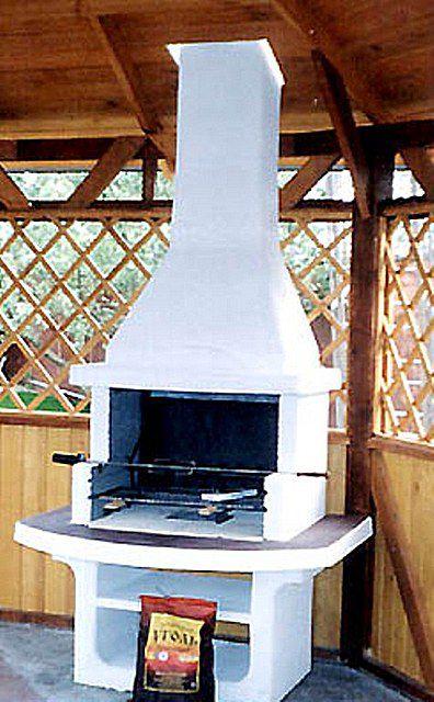 Садовая печка мангал в беседке