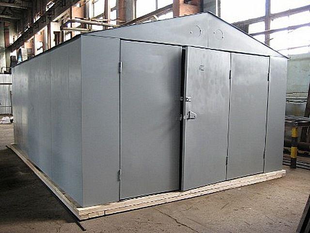Готовый разборный  гараж заводского изготовления - удобно, но, увы, дорого