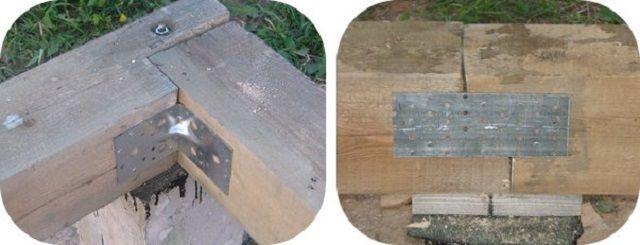 Соединение деталей уголками и пластинами