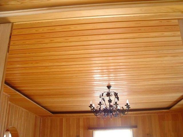 Как сделать потолок в деревянном доме