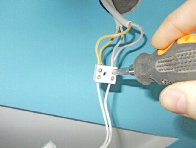Коммутация электропроводки светильников ...