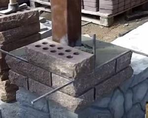 Кирпичные столбы для забора своими руками