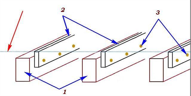 Простейший метод крепления лаг к балкам цокольного перекрытия