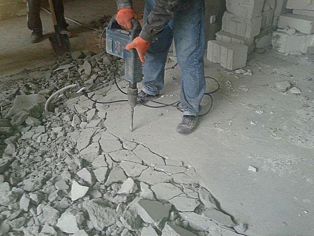 Демонтаж старой стяжки