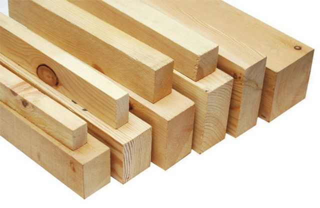 Традиционный материал для лаг - деревянный брус