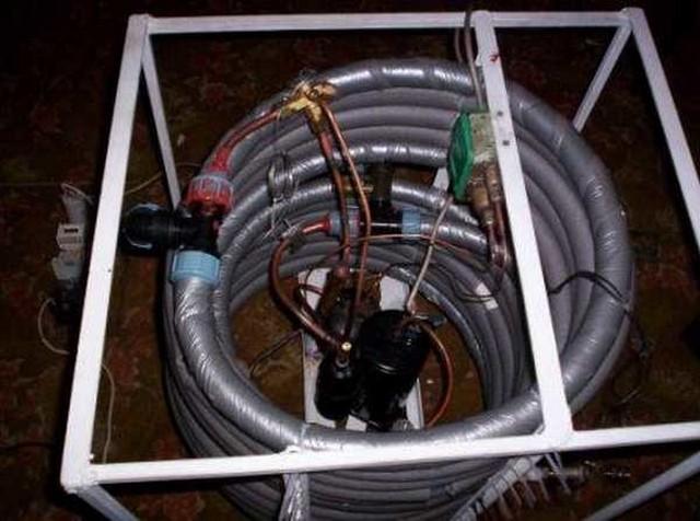 Оба теплообменника установлены и подключены к компрессору