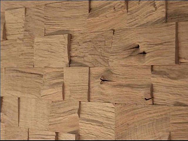 Панели из колотой древесины