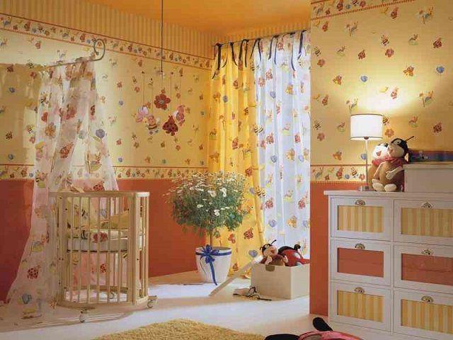Такая детская спальня  как будто постоянно наполнена солнечным светом