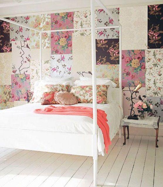 """Весьма интересно смотрится комната, оформленная в """"лоскутном"""" стиле"""