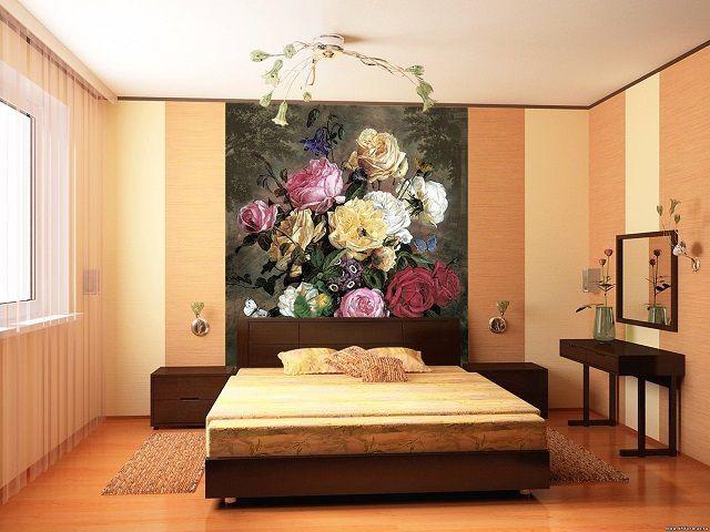 Яркое пятно в оформлении комнаты сразу становится центром композиции, притягивая взгляд