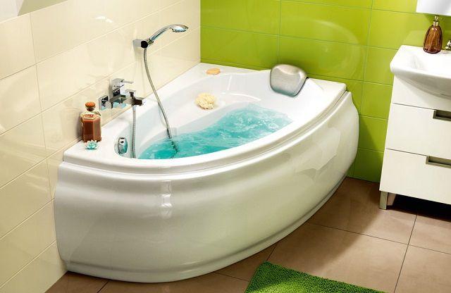 Ванны акриловые угловые асимметричные