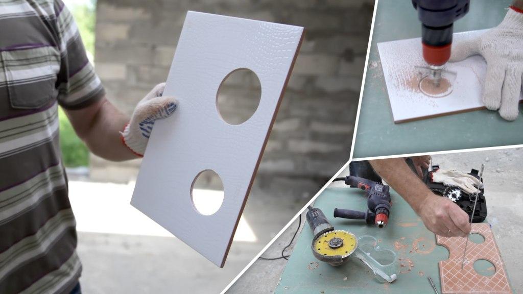Как сделать отверстия в плитке