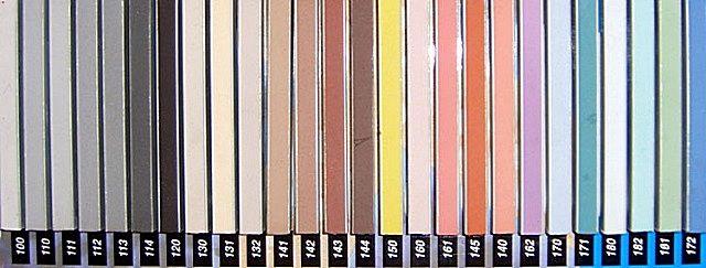 Цветовая гамма затирок «Kiilto»