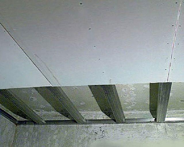 Монтаж гипсокартонных листов на каркас