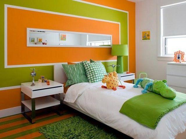 Очень удачное сочетание оранжевого с зеленым