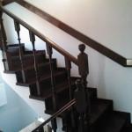 Отделка бетонной лестницы. Пример