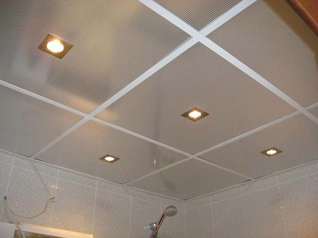 Подвесной плиточный (кассетный или ячеистый) потолок