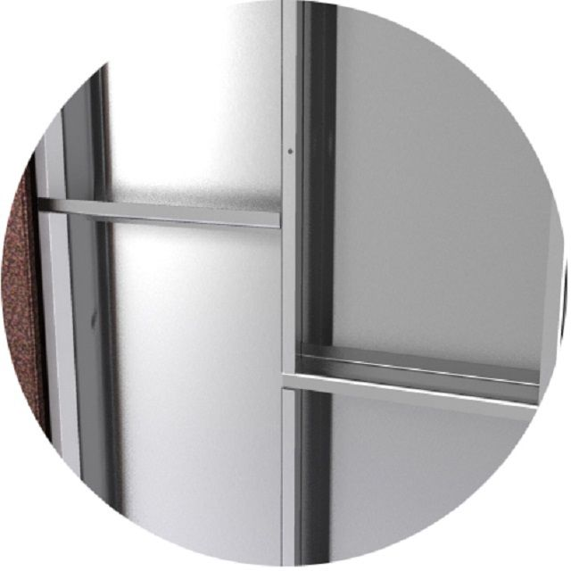 Обязательный элемент - ребра жесткости дверного полотна