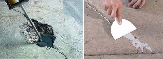 Проведение ремонта бетонной поверхности