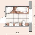 Схема ванной комнаты