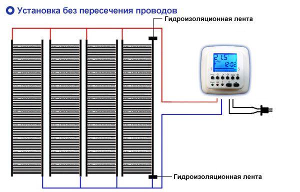 Схема монтажа пленочного