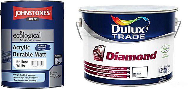 Продукция английских компаний «Dulux» и «Johnstone's»
