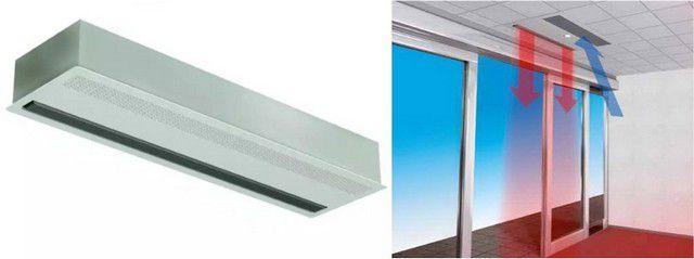 Тепловая завеса скрытой установки для подвесного потолка