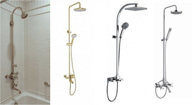 Смесители с гибким душем и большой стационарной лейкой