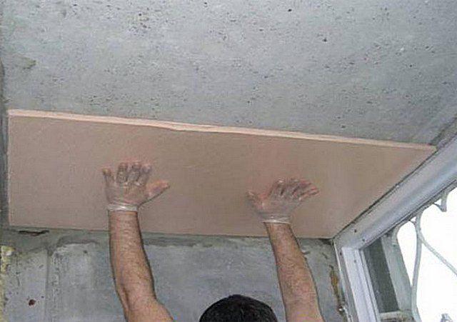 Фиксация панели к потолочной поверхности