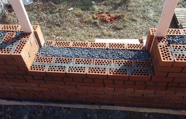 Типичное использование керамзита для утепления стен