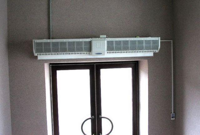Горизонтальная установка над дверным проемом